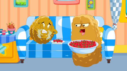 吃草莓-植物大战僵尸游戏搞笑动画