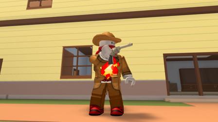 强盗来了 暗墨扮演土匪偷袭村庄抢宝藏 Roblox小游戏