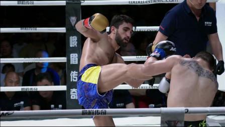 日本k-1王者冠军马拉特绝对实力碾压,对手硬抗铁拳重击