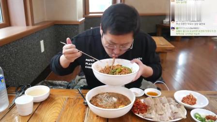 《韩国农村美食》韩式酸辣粉+炸酱面,吃得津津有味