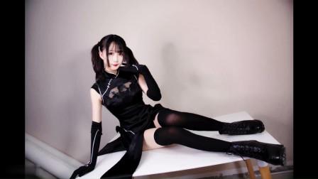 13cm高跟+旗袍+过膝黑丝,这样的小姐姐你喜欢吗-极乐净土