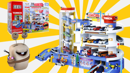 超级汽车大楼 停车场轨道玩具 过家家亲子游戏