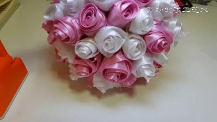 简单手工,只要一卷缎带就能做的玫瑰花
