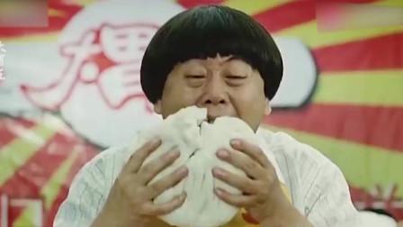 小伙参加大胃王比赛,吃下十个头那么大的肉包子!