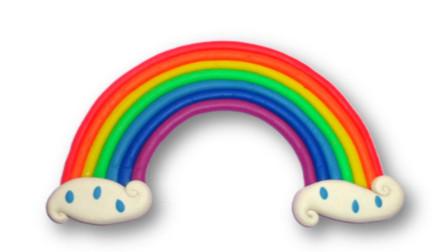 儿童玩彩泥:培乐多制作美丽的七色彩虹