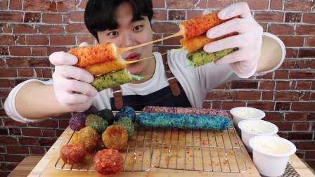 行旅天下 大胃王狂吃彩虹芝士棒,网友:吃这么多色素真的好吗?