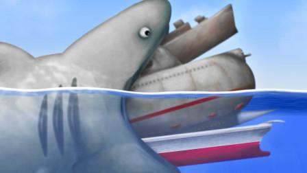 美味汪洋 饥饿的鲨鱼毫无顾忌 海洋生物全军覆没