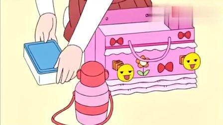 樱桃小丸子:丸子小玉和年子一起去外面野餐,好多好吃的!