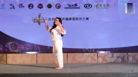 吴佳露独舞!2017重庆国际东方舞大赛冠军作品《玛丽莲梦露》