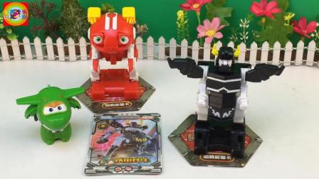 寓教于乐超级飞侠玩具 快乐酷宝3铁甲狂牛酷变出击!超级飞侠小青玩变形玩具