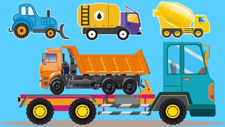 认识油罐车等5种常见的工程车