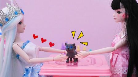 叶罗丽故事 罗丽放学捡了一只小猫咪 冰公主给它洗澡 太有爱心了