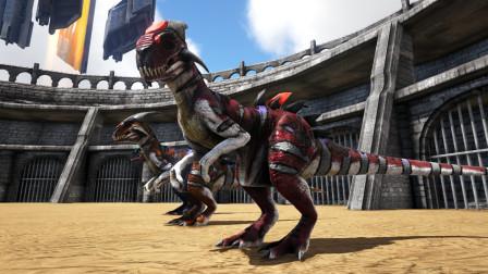 【暗墨】变异异特龙vs刺猬恐龙  方舟生存进化VS系列