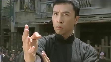 叶问与三浦的终极对决,最后以打木人桩的方式结束战斗