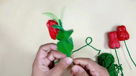 教你用卫生纸和塑料瓶制作一棵辣椒盆栽,红通通的真可爱!