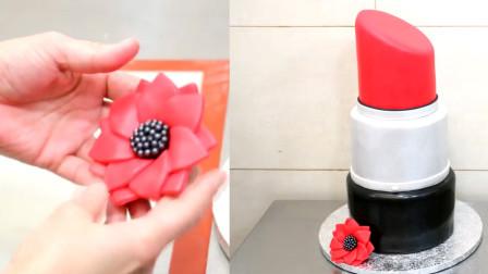 这真的不是口红! 这是牛人发明的翻糖蛋糕, 快送给妈妈当惊喜吧!