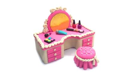 甜心公主的化妆台,原来是用翻糖做的,带你走进童话世界