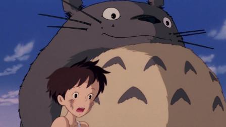 《龙猫》龙猫带着小月去做龙猫巴士,看着太舒服了吧!