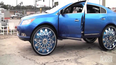 别克君威改装32英寸车轮,酷似SUV,内饰更是没得说!