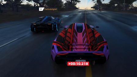 飙酷车神2:柯尼塞格也跑太快了吧,居然可以反超兰博基尼