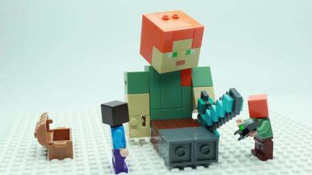 我的世界动画-乐高爱丽克丝造个巨型爱丽克丝-HanTube Toy