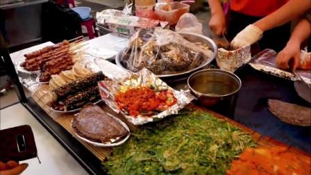 韩国街头小吃,美味泡菜煎饼!