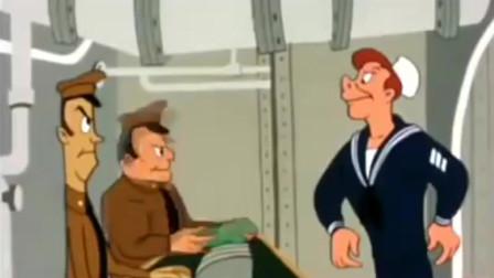 20世纪40年代后二战时期美国海军水手和海鸥的经典成人卡通