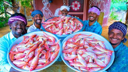 50斤金丝鱼,印度大爷倒入大锅里炖,看看他是怎么个炖法?
