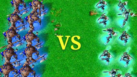 魔兽争霸:10个牛头人酋长VS10个暗影猎手,控制力与回复力的对决