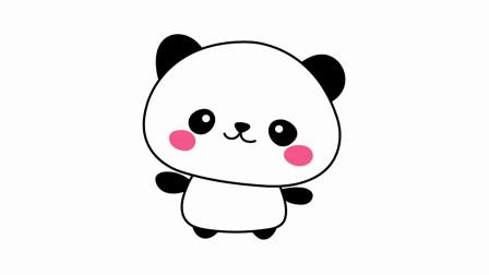 美术简笔画学习:小动物大熊猫简笔画的技巧讲解,快来学习吧