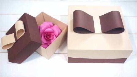折纸小手工:自己动手diy一个漂亮的礼物盒