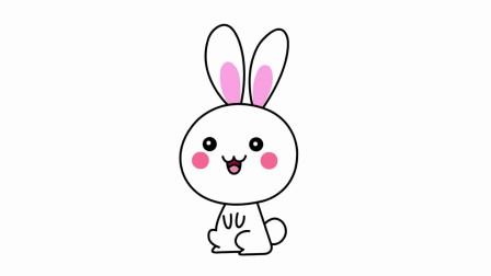 美术简笔画学习:小动物可爱小兔子简笔画的技巧讲解,