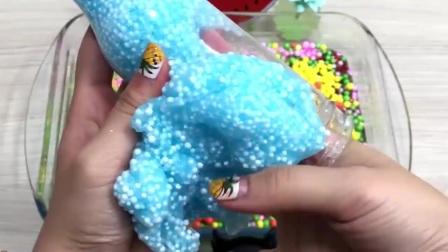 超萌猫头鹰彩泥+解压球+菠萝果冻泥,自制史莱姆,无硼砂无胶水