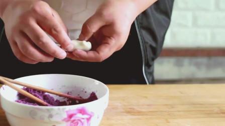 一个紫薯, 半包牛奶, 做出紫薯盒子香甜可口, 小朋友超爱吃!