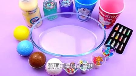 用优益C酸奶做泥你见过吗?配上闪粉彩钻等材料,结果怎样无硼砂