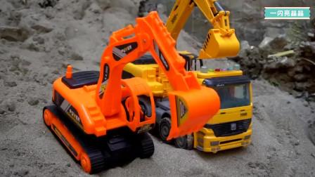 挖掘机小火车大卡车搅拌车工程车视频大全 挖掘机动画片