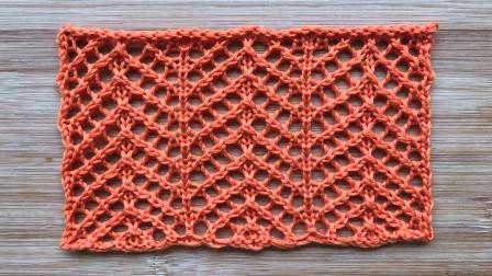 简洁精致的斜纹网格,很美的春夏针织衫花样收针图解视频