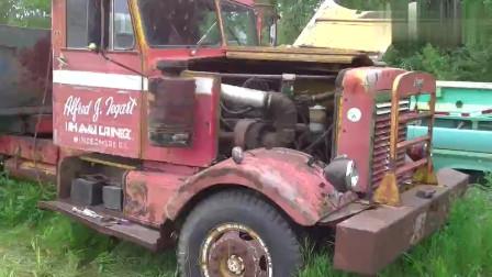 在户外闲置了十年的卡车淘汰利用,引擎依旧给力