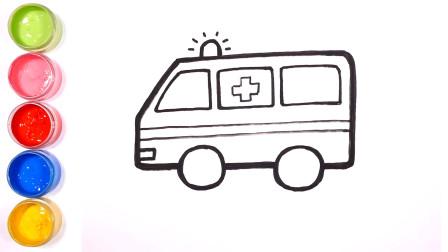 简笔画交通工具|教孩子如何画救护车、消防车、警车|儿童艺术启蒙