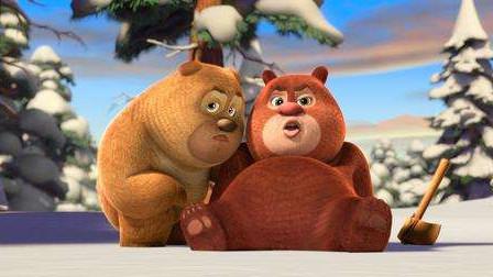熊出没熊大熊二被困在雪地 快快打破冰面帮助他们!