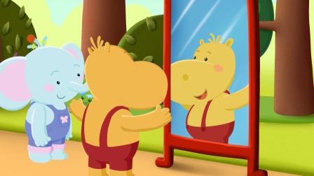 《跟着缇娜学英语》04 猜猜缇娜和小伙伴们是什么动物?神奇的镜子来告诉你