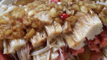 蒜蓉金针菇做法,做法简单,好吃下饭!