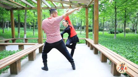 水兵舞7套基础花《滑冰》教学,慢动作口令分解,多角度教学演示