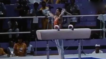 体操:李宁1984年奥运会双杠鞍马,征服在场所有观众!