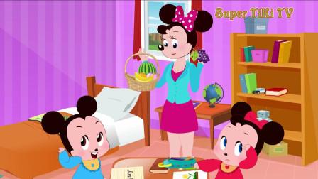 米老鼠卡通:只要答对了就有水果吃