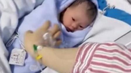 产妇缝合侧切撕裂伤,宝妈和新生儿的互动,在场医生全都泪目