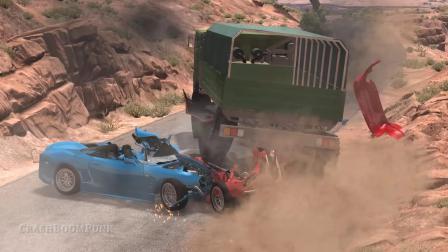 BeamNG模拟汽车高速车祸碰撞