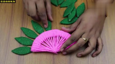 创意手工DIY,教你用纸板和毛线DIY好看的壁挂装饰