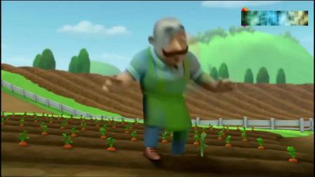 汪汪队:莱德让小砺清理胡萝卜地里的兔子洞,洞里果然有许多兔子