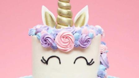 彩虹独角兽蛋糕 厨房制作 儿童乐园